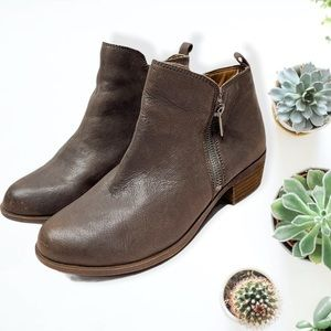 Lucky Brand Brown leather Basel Ankle Boots 8W